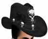 Black Skull Cowboy Hat