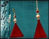""".Merce Red.""Earrings"