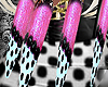 *P* Pink/Blk Dotted Claw