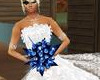 blue bridesmaid flowers