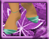 ^VL teal stripe shoes
