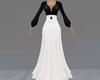 Black/White Long Dress