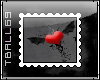 Heart with wings stamp