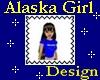 Alaska Girl Stamp
