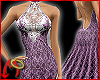Halter Gown Lace/Lilac