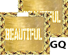 Plated Gold Name BEAUTIF