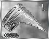 Silver studded armband L