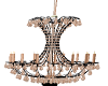 chandelier pink and blac