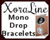 (XL)Mono Drop Bracelets