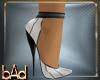 White Black Sequin Heels