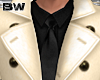 Gold Black Suit Trench