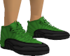 Green Black Trainers F