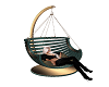 Teal Swing cuddle chair
