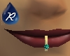 {R} Blue Topaz lip ring