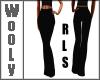 Black stribed pants RLS