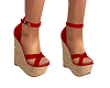 Sexy Red Wedge Heels