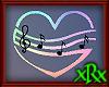 Music Note Heart Rainbow