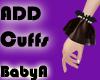 ! BA Black Add Cuff