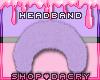 Purple Fur Headband