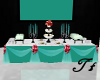 Teal Wedding Buffet