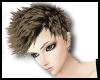 Spikey hair brown/black