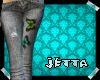 Grey Butterfly Jeans