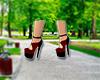 RedBlack Heeled Shoes