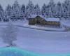 Snowing Lakefront Resort