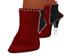 Red Pattie Booties