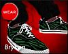 Vans Zebra Green Print