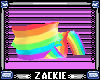 rainbow animated scarf