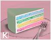 |K 💖 Rainbow Slice