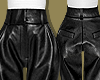 Black Leather High Pants