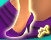[M] Ruffle Shoes Purple