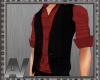 Red Shirt with Waistcoat