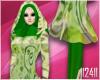 24: Green Floral Hijab