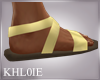 K greek gold sandles