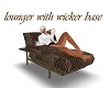 lounger with wicker base