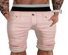 Pink cream khaki shorts