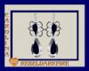 (CR) Blue-Slvr Earrings
