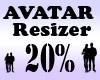 Avatar Resizer 20%