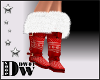 D- Knit Red Boots
