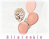 A* Rose gold balloons