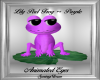 Lily Pad Frog ~ Purple