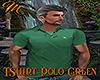 [M] T-Shirt Polo Green