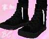 black n white lace shoes