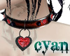 *c* Ruby Heart Collar