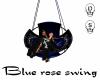 Blue Gothic rose swing