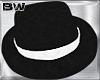 Black White Gangster Hat