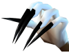 !Black PVC Vampire Claws